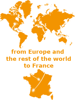 from Europe and the rest of the world to France